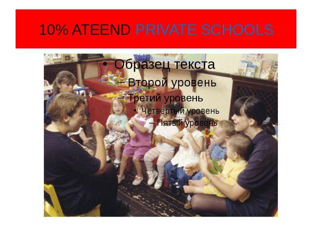10% ATEEND PRIVATE SCHOOLS