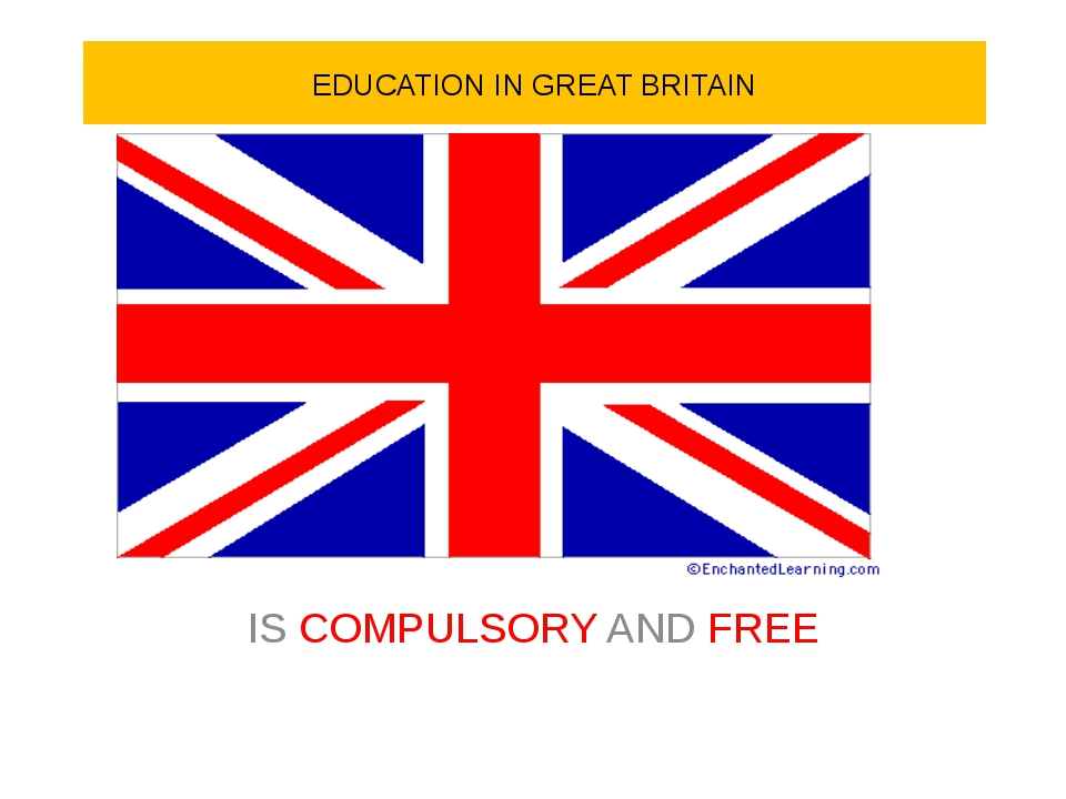 EDUCATION IN GREAT BRITAIN IS COMPULSORY AND FREE