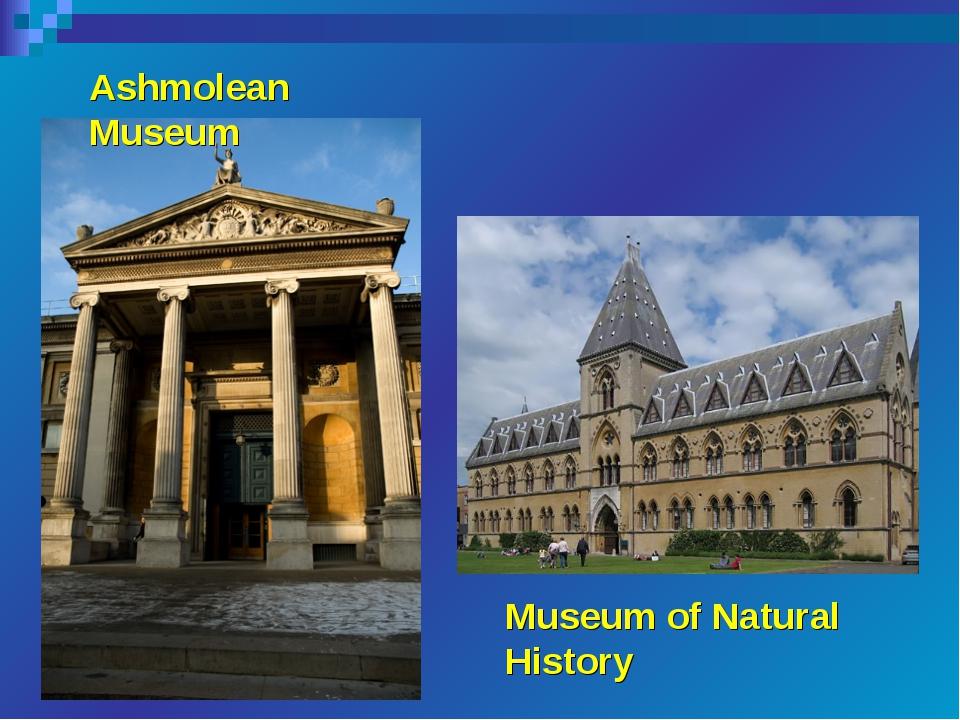 Ashmolean Museum Museum of Natural History