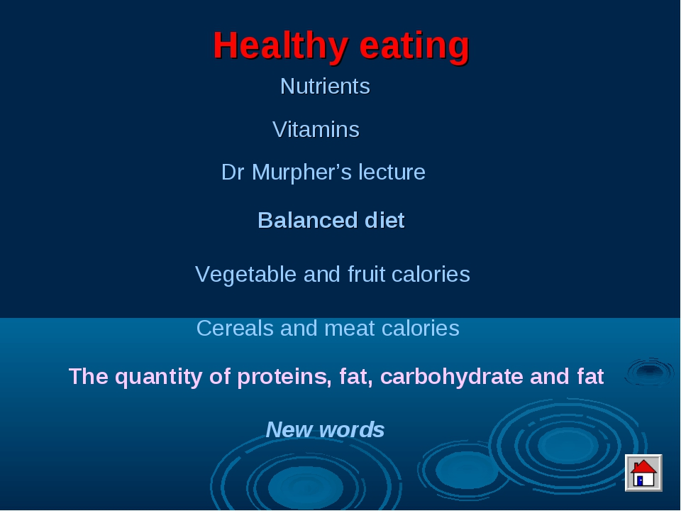 Healthy eating Nutrients Vitamins Balanced diet New words Dr Murpher's lectur...