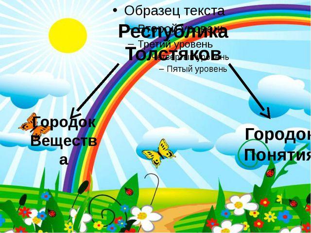 Республика Толстяков Городок Вещества Городок Понятия