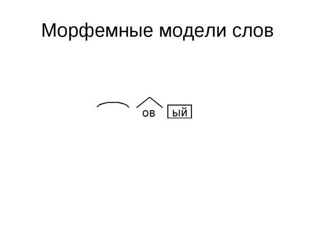 Морфемные модели слов ый ов