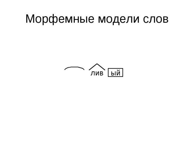 Морфемные модели слов лив ый
