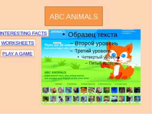 ABC ANIMALS INTERESTING FACTS WORKSHEETS PLAY A GAME Anglomaniacy.pl