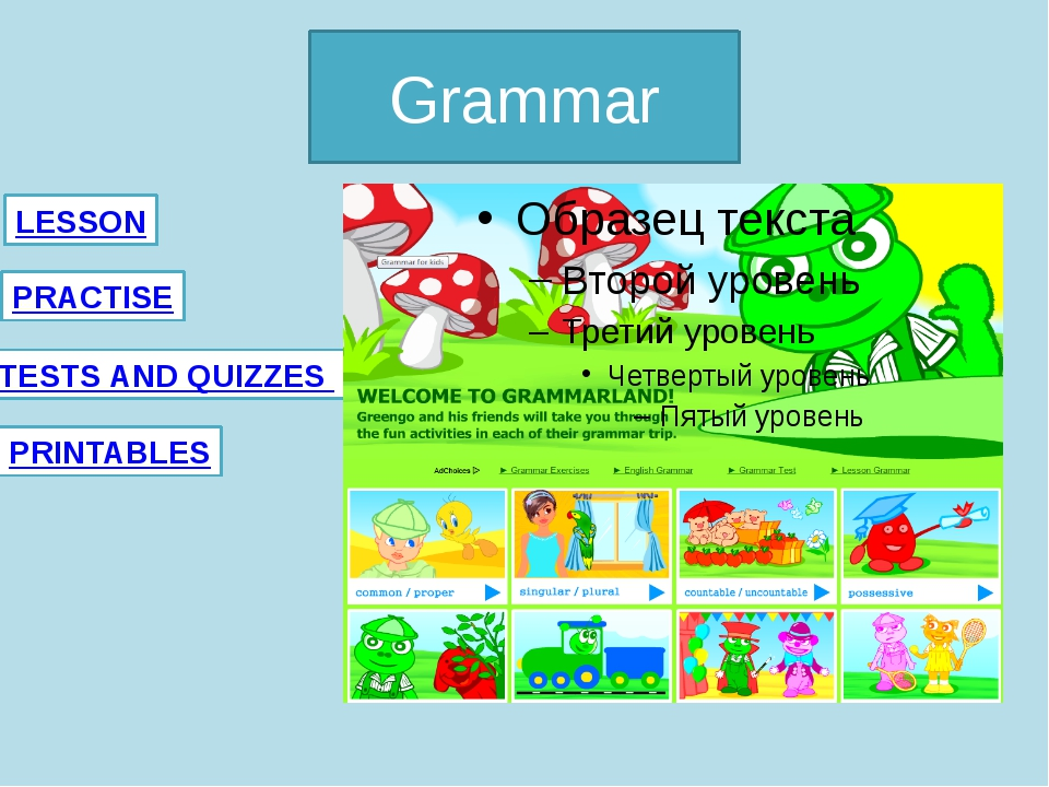 Grammar LESSON PRINTABLES PRACTISE TESTS AND QUIZZES Anglomaniacy.pl