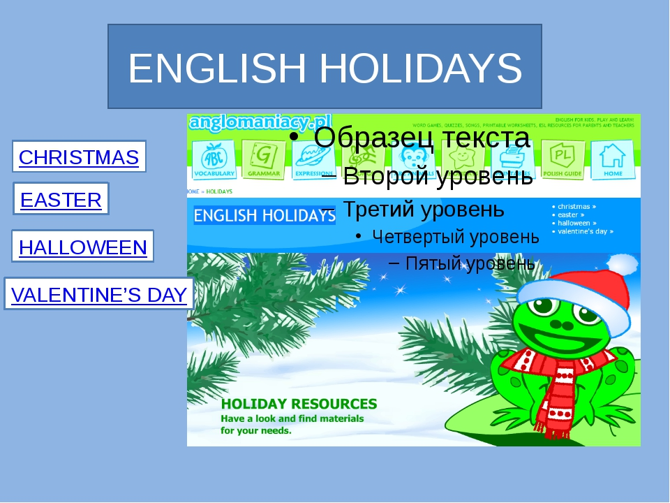 ENGLISH HOLIDAYS CHRISTMAS EASTER HALLOWEEN VALENTINE'S DAY Anglomaniacy.pl