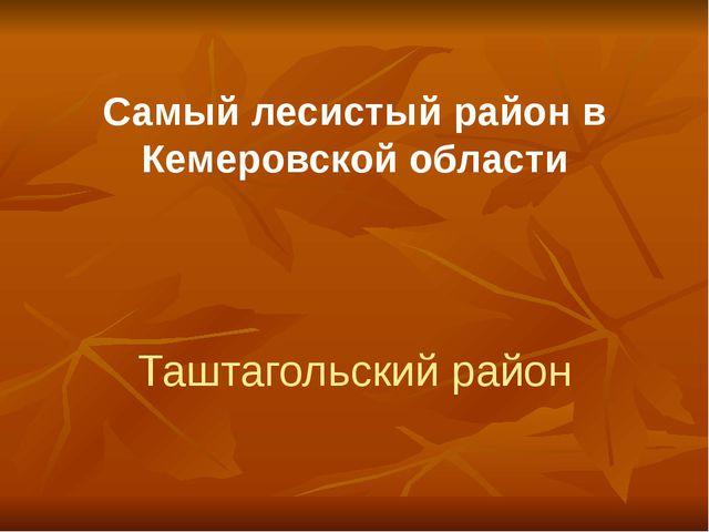 Самый лесистый район в Кемеровской области Таштагольский район