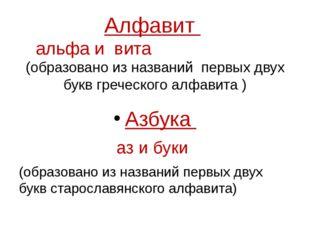 Алфавит альфа и вита (образовано из названий первых двух букв греческого алфа