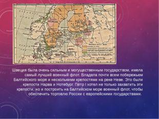 Швеция была очень сильным и могущественным государством, имела самый лучший