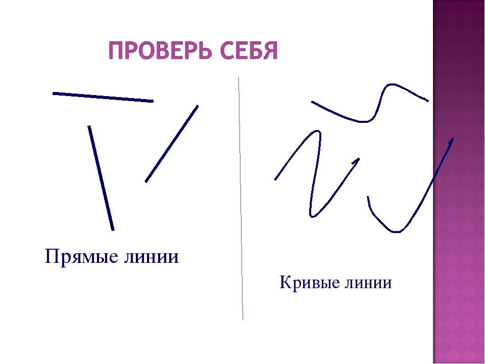 Прямые линии Кривые линии