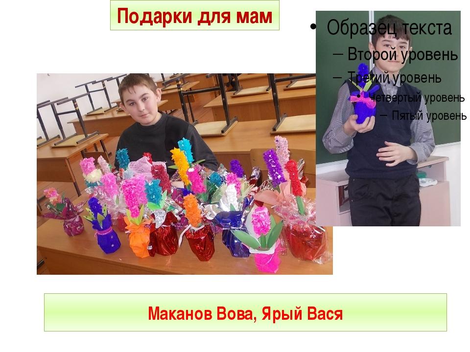 Маканов Вова, Ярый Вася Подарки для мам