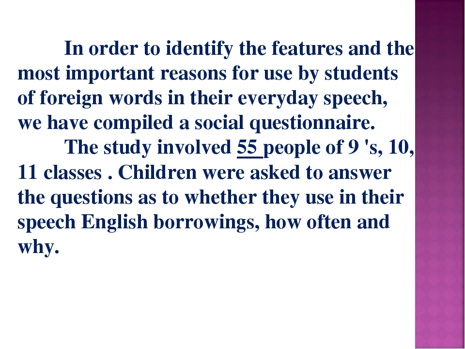 In order to identify the features and the most important reasons for use by...