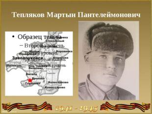 Тепляков Мартын Пантелеймонович