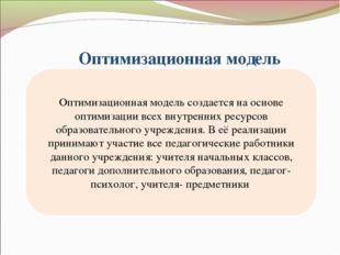 Оптимизационная модель Оптимизационная модель создается на основе оптимизаци