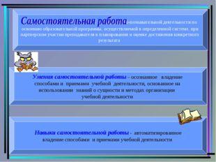 - вид учебно-познавательной деятельности по освоению образовательной програм