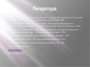 Литература. Алексеев С.В., Груздева Н.В., Муравьёв А.Г., Гущина Э.В. практику