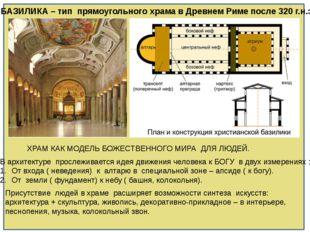БАЗИЛИКА – тип прямоугольного храма в Древнем Риме после 320 г.н.э. ХРАМ КАК