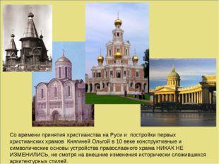 Со времени принятия христианства на Руси и постройки первых христианских хра