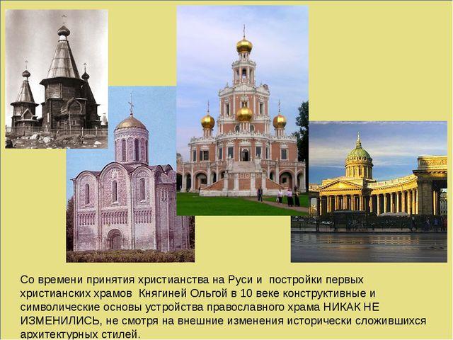 Со времени принятия христианства на Руси и постройки первых христианских хра...