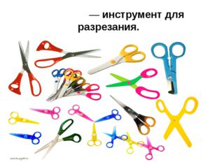 Но́жницы— инструмент для разрезания.