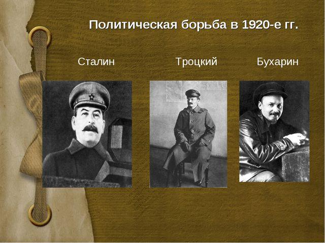 Политическая борьба в 1920-е гг. Сталин Троцкий Бухарин