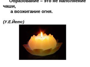 Образование – это не наполнение чаши, а возжигание огня. (У.Е.Йетс)