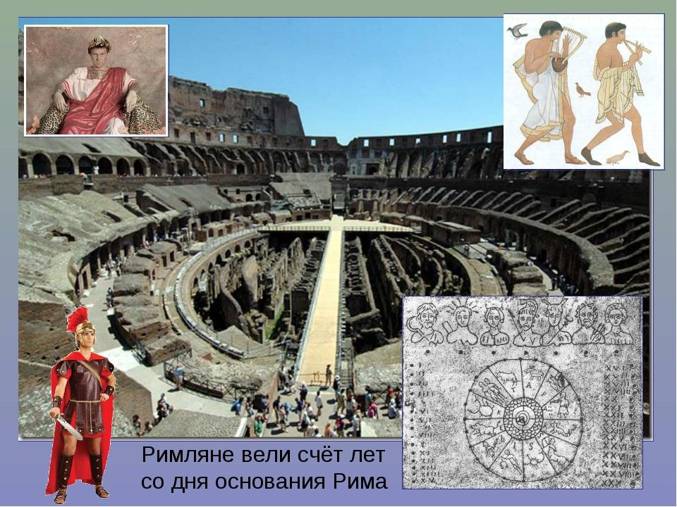 Римляне вели счёт лет со дня основания Рима