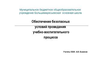 Муниципальное бюджетное общеобразовательное учреждение Большемаресьевская осн