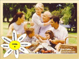 тётя дядя мама сестра брат дедушка бабушка папа семья