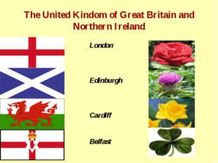 The United Kindom of Great Britain and Northern Ireland London Edinburgh Card