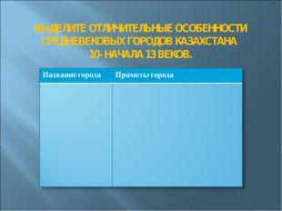 ВЫДЕЛИТЕ ОТЛИЧИТЕЛЬНЫЕ ОСОБЕННОСТИ СРЕДНЕВЕКОВЫХ ГОРОДОВ КАЗАХСТАНА 10- НАЧА