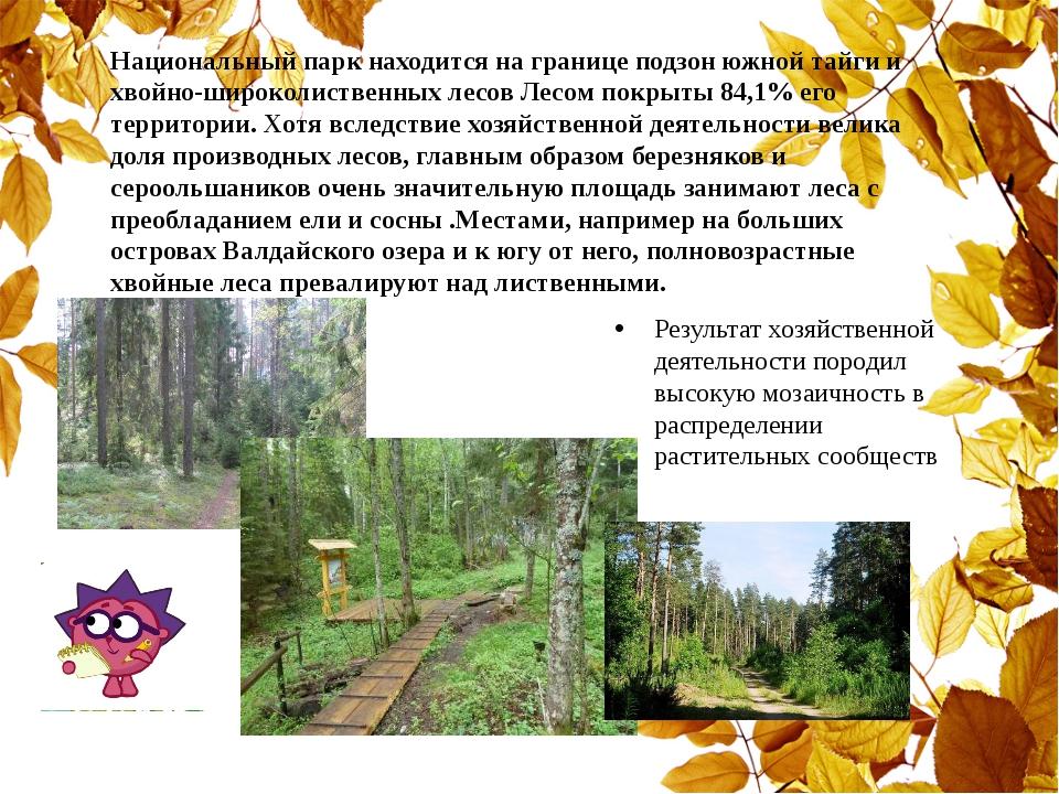 Национальный парк находится на границе подзон южной тайги и хвойно-широколист...