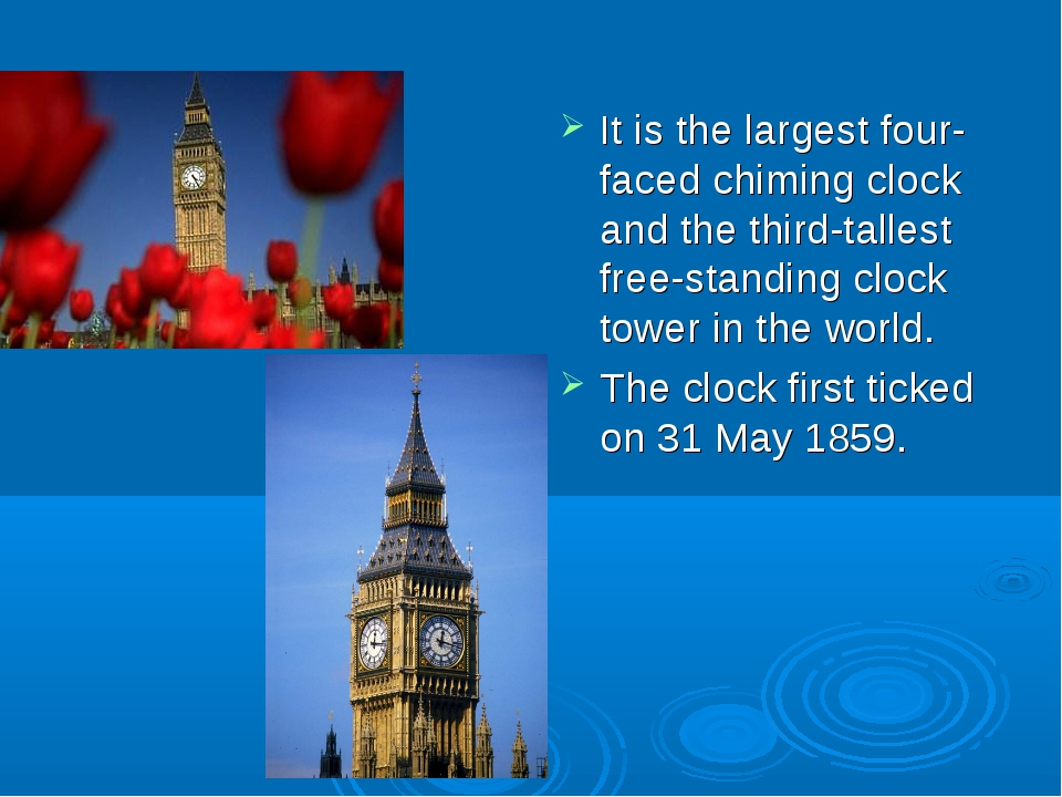 It is the largest four-faced chiming clock and the third-tallest free-standi...
