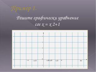 Пример 1. Решите графически уравнение cos x = x 2+1