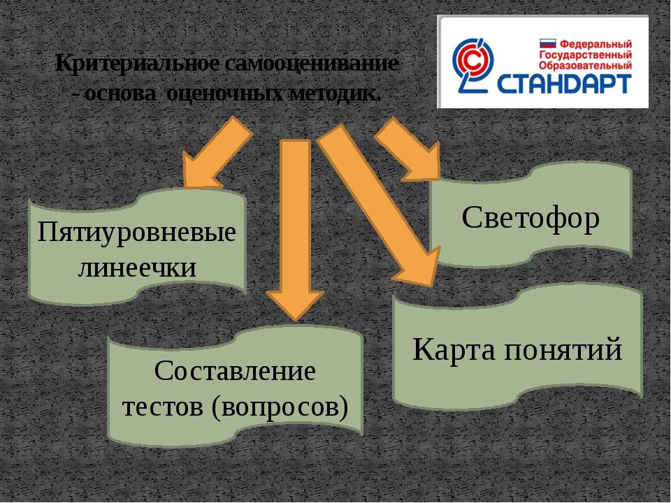 Критериальное самооценивание - основа оценочных методик. Светофор Пятиуровнев...