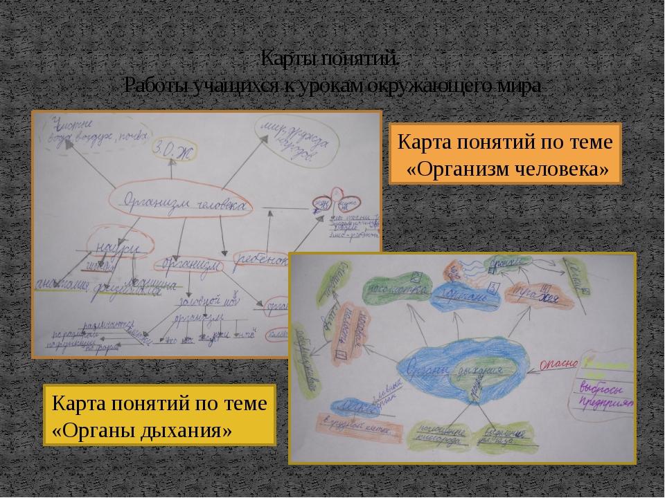 Карты понятий. Работы учащихся к урокам окружающего мира Карта понятий по тем...