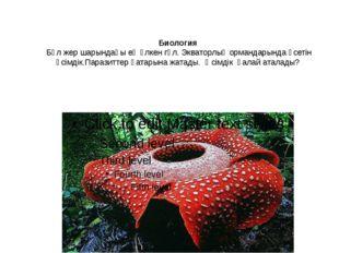Биология Бұл жер шарындағы ең үлкен гүл. Экваторлық ормандарында өсетін өсім