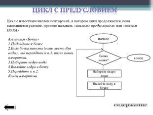 Цикл с известным числом повторений, в котором цикл продолжается, пока выполня