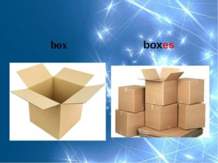 box boxes