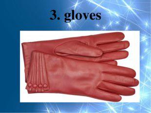 3. gloves