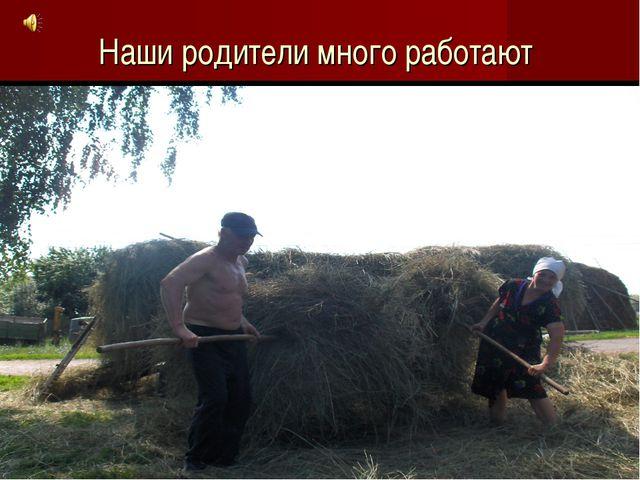 Наши родители много работают