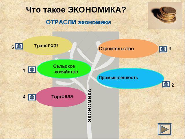 Что такое ЭКОНОМИКА? ЭКОНОМИКА ОТРАСЛИ экономики 4 2 1 5 3