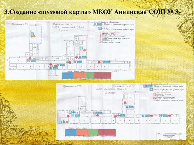 3.Создание «шумовой карты» МКОУ Аннинская СОШ № 3» FokinaLida.75@mail.ru