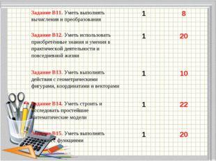 Задание В11. Уметь выполнять вычисления и преобразования 18 Задание В12. У