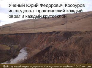 Ученый Юрий Федорович Косоуров исследовал практический каждый овраг и каждый