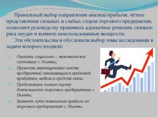 Правильный выбор направления анализа прибыли, чёткое представление сильных и
