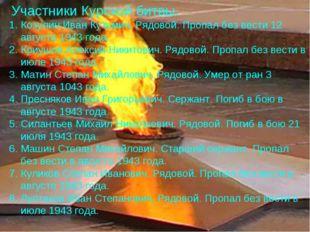Козулин Иван Кузьмич. Рядовой. Пропал без вести 12 августа 1943 года. Криушов