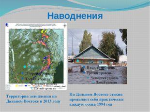 Наводнения Территория затопления на Дальнем Востоке в 2013 году На Дальнем Во