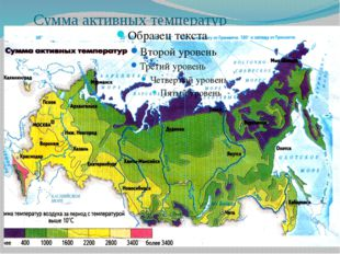 Сумма активных температур