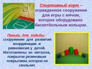 Спортивный корт – огражденное сооружение для игры с мячом, которое оборудован